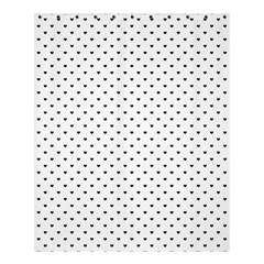 Classic Black Polka Dot Hearts Magic Color Swop Shower Curtain 60  X 72  (medium) by Beachlux