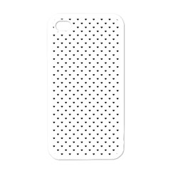 Classic Black Polka Dot Hearts Magic Color Swop Apple Iphone 4 Case (white) by Beachlux