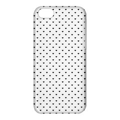 Classic Black Polka Dot Hearts Magic Color Swop Apple Iphone 5c Hardshell Case by Beachlux