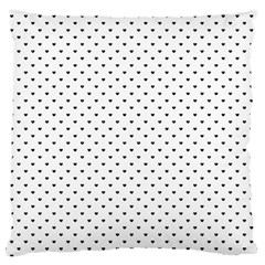 Classic Black Polka Dot Hearts Magic Color Swop Standard Flano Cushion Case (two Sides) by Beachlux