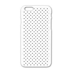 Classic Black Polka Dot Hearts Magic Color Swop Apple Iphone 6/6s White Enamel Case by Beachlux