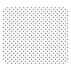 Classic Black Polka Dot Hearts Magic Color Swop Double Sided Flano Blanket (small) by Beachlux