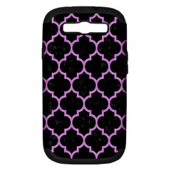 Tile1 Black Marble & Purple Colored Pencil (r) Samsung Galaxy S Iii Hardshell Case (pc+silicone) by trendistuff