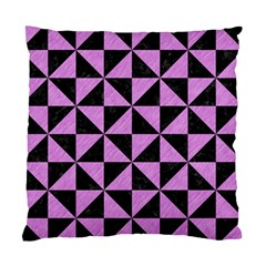 Triangle1 Black Marble & Purple Colored Pencil Standard Cushion Case (two Sides) by trendistuff