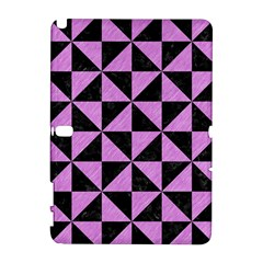 Triangle1 Black Marble & Purple Colored Pencil Galaxy Note 1 by trendistuff