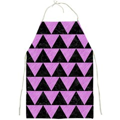 Triangle2 Black Marble & Purple Colored Pencil Full Print Aprons by trendistuff