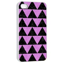Triangle2 Black Marble & Purple Colored Pencil Apple Iphone 4/4s Seamless Case (white) by trendistuff