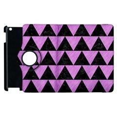 Triangle2 Black Marble & Purple Colored Pencil Apple Ipad 2 Flip 360 Case by trendistuff
