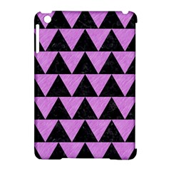 Triangle2 Black Marble & Purple Colored Pencil Apple Ipad Mini Hardshell Case (compatible With Smart Cover) by trendistuff