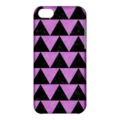 Triangle2 Black Marble & Purple Colored Pencil Apple Iphone 5c Hardshell Case by trendistuff