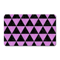 Triangle3 Black Marble & Purple Colored Pencil Magnet (rectangular) by trendistuff