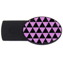 Triangle3 Black Marble & Purple Colored Pencil Usb Flash Drive Oval (2 Gb) by trendistuff