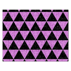 Triangle3 Black Marble & Purple Colored Pencil Rectangular Jigsaw Puzzl by trendistuff