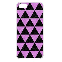 Triangle3 Black Marble & Purple Colored Pencil Apple Iphone 5 Seamless Case (white) by trendistuff