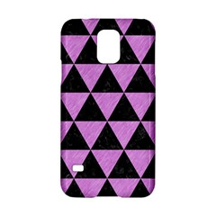 Triangle3 Black Marble & Purple Colored Pencil Samsung Galaxy S5 Hardshell Case  by trendistuff