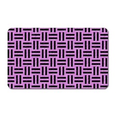 Woven1 Black Marble & Purple Colored Pencil Magnet (rectangular) by trendistuff