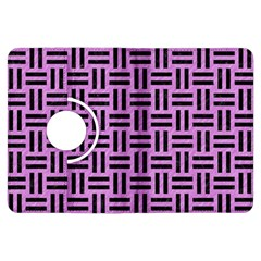 Woven1 Black Marble & Purple Colored Pencil Kindle Fire Hdx Flip 360 Case by trendistuff