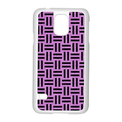 Woven1 Black Marble & Purple Colored Pencil Samsung Galaxy S5 Case (white) by trendistuff