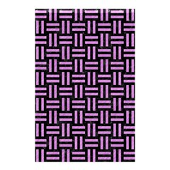 Woven1 Black Marble & Purple Colored Pencil (r) Shower Curtain 48  X 72  (small)  by trendistuff