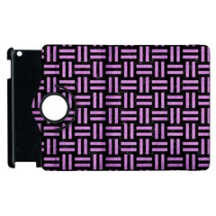 Woven1 Black Marble & Purple Colored Pencil (r) Apple Ipad 3/4 Flip 360 Case by trendistuff