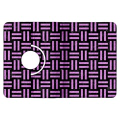 Woven1 Black Marble & Purple Colored Pencil (r) Kindle Fire Hdx Flip 360 Case by trendistuff