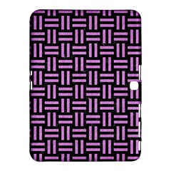 Woven1 Black Marble & Purple Colored Pencil (r) Samsung Galaxy Tab 4 (10 1 ) Hardshell Case  by trendistuff