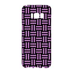 Woven1 Black Marble & Purple Colored Pencil (r) Samsung Galaxy S8 Hardshell Case  by trendistuff