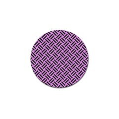 Woven2 Black Marble & Purple Colored Pencil Golf Ball Marker by trendistuff
