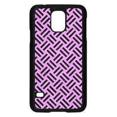 Woven2 Black Marble & Purple Colored Pencil Samsung Galaxy S5 Case (black) by trendistuff