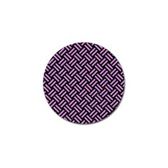 Woven2 Black Marble & Purple Colored Pencil (r) Golf Ball Marker (10 Pack) by trendistuff