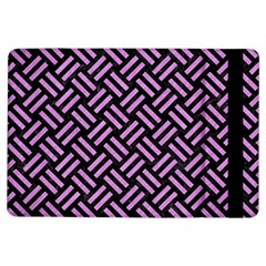Woven2 Black Marble & Purple Colored Pencil (r) Ipad Air Flip by trendistuff