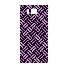 Woven2 Black Marble & Purple Colored Pencil (r) Samsung Galaxy Alpha Hardshell Back Case by trendistuff