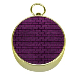 Brick1 Black Marble & Purple Leather Gold Compasses by trendistuff