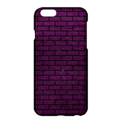 Brick1 Black Marble & Purple Leather Apple Iphone 6 Plus/6s Plus Hardshell Case by trendistuff
