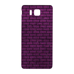 Brick1 Black Marble & Purple Leather Samsung Galaxy Alpha Hardshell Back Case by trendistuff