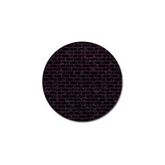 Brick1 Black Marble & Purple Leather (r) Golf Ball Marker (10 Pack) by trendistuff