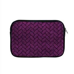 Brick2 Black Marble & Purple Leather Apple Macbook Pro 15  Zipper Case by trendistuff