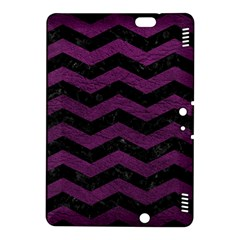 Chevron3 Black Marble & Purple Leather Kindle Fire Hdx 8 9  Hardshell Case by trendistuff