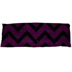 Chevron9 Black Marble & Purple Leather Body Pillow Case Dakimakura (two Sides) by trendistuff