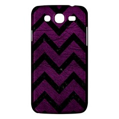Chevron9 Black Marble & Purple Leather Samsung Galaxy Mega 5 8 I9152 Hardshell Case  by trendistuff