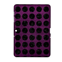 Circles1 Black Marble & Purple Leather Samsung Galaxy Tab 2 (10 1 ) P5100 Hardshell Case  by trendistuff