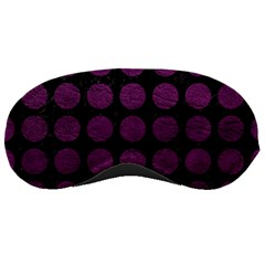 Circles1 Black Marble & Purple Leather (r) Sleeping Masks by trendistuff