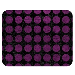 Circles1 Black Marble & Purple Leather (r) Double Sided Flano Blanket (medium)  by trendistuff