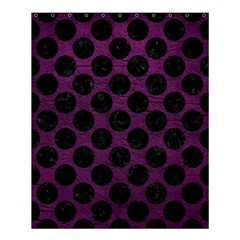 Circles2 Black Marble & Purple Leather Shower Curtain 60  X 72  (medium)  by trendistuff
