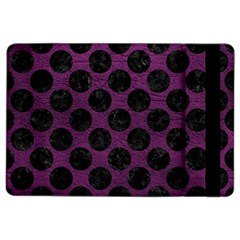 Circles2 Black Marble & Purple Leather Ipad Air 2 Flip by trendistuff