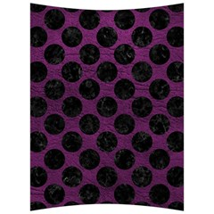 Circles2 Black Marble & Purple Leather Back Support Cushion by trendistuff