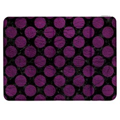Circles2 Black Marble & Purple Leather (r) Samsung Galaxy Tab 7  P1000 Flip Case by trendistuff