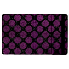 Circles2 Black Marble & Purple Leather (r) Apple Ipad Pro 12 9   Flip Case by trendistuff