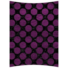 Circles2 Black Marble & Purple Leather (r) Back Support Cushion by trendistuff