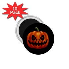 Halloween Pumpkin 1 75  Magnets (10 Pack)  by Valentinaart